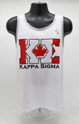 Kappa Sigma ΚΣ White Canada Tank Top