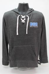 Beta Theta Pi Long Sleeve Hooded T-Shirt Grey Hoodie -Front