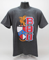 Beta Theta Pi Fraternity Crest T-Shirt Heather Grey