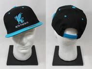 Beta Theta Pi Snapback Dragon Hat Black with Blue Brim
