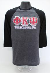 Phi Kappa Psi Three-Quarter Sleeve Fraternity T-Shirt