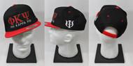 Phi Kappa Psi Snapback Hat Black/Red with Side Emblem