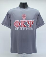 Phi Kappa Psi Dry Fit T-Shirt Grey