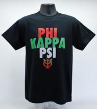 Phi Kappa Psi Fraternity T-Shirt Black