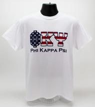 Phi Kappa Psi USA Fraternity T-Shirt White -Front