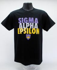 Sigma Alpha Epsilon Fraternity T-Shirt Black