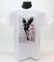 Sigma Alpha Epsilon Fraternity Phoenix T-Shirt White -Front