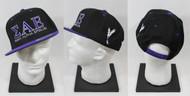 Sigma Alpha Epsilon Snapback Hat Black/Purple with Side Emblem Phoenix