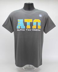 Alpha Tau Omega Fraternity T-Shirt Charcoal Grey