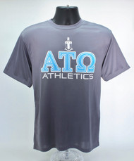Alpha Tau Omega Dry Fit T-Shirt Grey