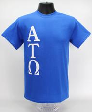 Alpha Tau Omega Fraternity T-Shirt Blue -Front
