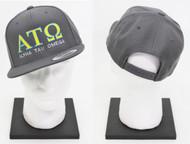 Alpha Tau Omega Snapback Hat Grey
