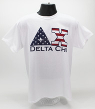 Delta Chi Fraternity USA T-Shirt White -Front