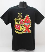 Delta Chi Fraternity Crest T-Shirt Black
