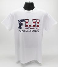 Phi Gamma Delta Fraternity USA FIJI T-Shirt White -Front