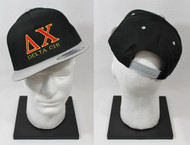 Delta Chi Snapback Hat Black/Grey