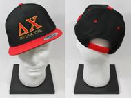 Delta Chi Snapback Hat Black/Red