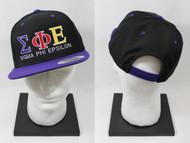 Sigma Phi Epsilon Snapback Hat Black/Purple
