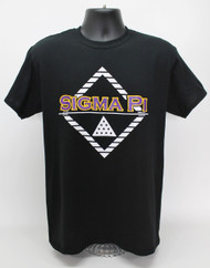 Sigma Pi Fraternity College T-Shirt Black
