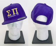 Sigma Pi Snapback Hat Purple