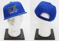 Sigma Chi Snapback Bluek Hat ΣX
