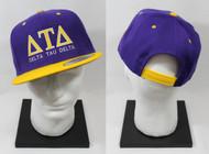 Delta Tau Delta Snapback Purple Hat with Yellow Brim ΔΤΔ
