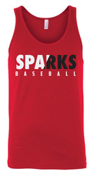 Sparks Unisex Bella Canvas Red Tank (Adult Sizes Only)