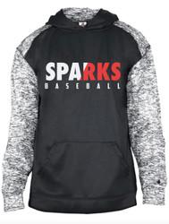 Sparks Black Sport Blend Performance  Unisex Badger Hooded Sweatshirt