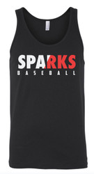 Sparks Unisex Bella Canvas Black Tank (Adult Sizes Only)