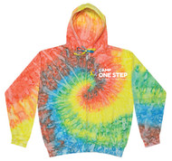 Camp One Step Unisex Tie-Dyed Full-Zip Hooded Sweatshirt (Adult Sizes)