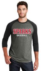 Sparks New Era® Heritage Blend 3/4-Sleeve Baseball Raglan Tee