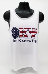Phi Kappa Psi USA White Tank Top -Front