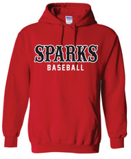 Sparks Gildan Heavy Blend Hoodie Red (youth sizes available)