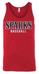 Sparks Canvas Unisex Jersey Tank Red