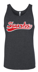 New Logo Sparks Canvas Triblend Jersey Tank Charcoal Grey