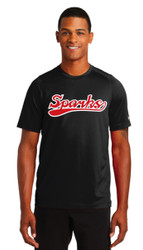 New Logo Sparks New Era® Performance Crew Tee Graphite (youth sizes available)