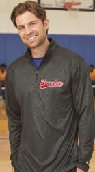 New Logo Sparks Line Embossed Quarter-Zip Long Sleeve T-Shirt