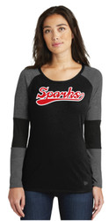 New Logo Sparks New Era® Ladies Tri-Blend Performance Baseball Long Sleeve Tee