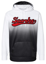New Logo Sparks Badger Black Fade Sport Performance Hoodie (youth sizes available)