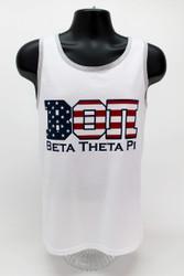 Beta Theta Pi USA White Tank Top -Front