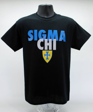 Sigma Chi T-Shirt Black ΣX