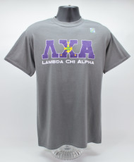 Lambda Chi Alpha T-Shirt Grey ΛΧΑ