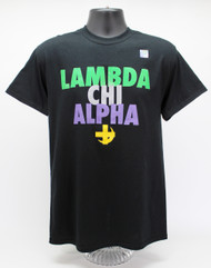 Lambda Chi Alpha T-Shirt Black ΛΧΑ