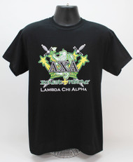 Lambda Chi Alpha T-Shirt Black latin ΛΧΑ