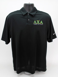Lambda Chi Alpha Nike Dry Fit Polo Black