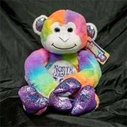 Society Large, Rainbow, Hanging Monkey