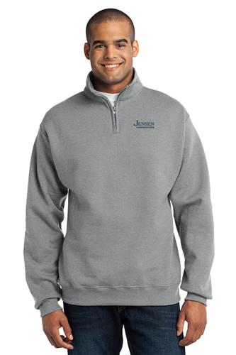 Jerzees 1/4 Zip Cadet Collar Sweatshirt
