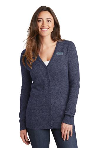 Port Authority Ladies Marled Cardigan Sweater