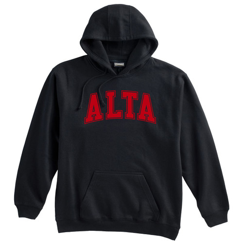 Alta Hooded Sweatshirt with Red Logo