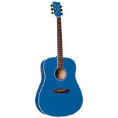 Tanglewood TWDBTDEDBL Discovery Dreadnought Acoustic/Electric Dark Cobalt Blue